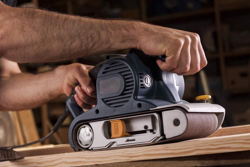 Belt Sander for Flatting Wood
